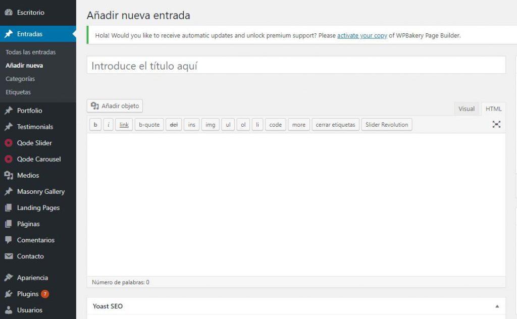 pagina web en valencia - entrada