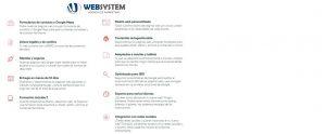 página web económica valencia - funcionalidades