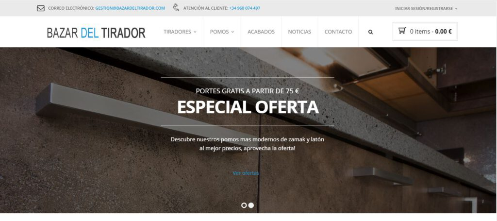diseño web en valencia - bazar